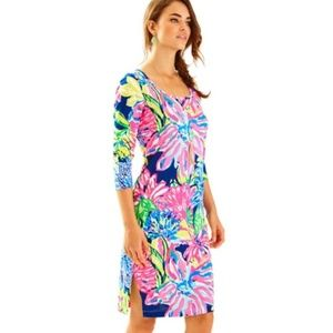 lilly pulitzer // 3/4 sleeve midi dress